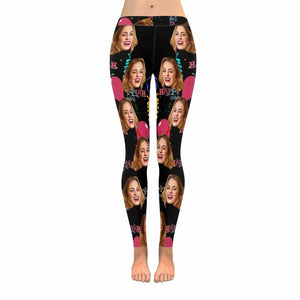 Custom Photo & Happy Birthday Women's Leggings - myphotowears