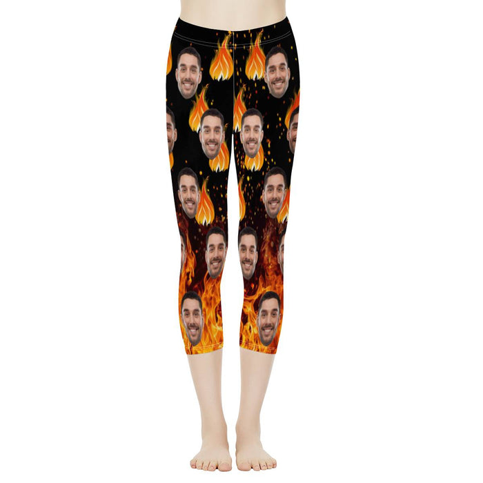 Custom Face & The Flame  Women's Capris