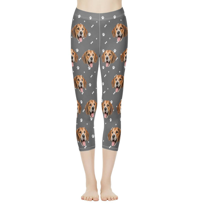 Custom Face & Dog Bone Women's Capris