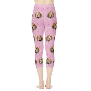 Custom Face & Dog Bone Women's Capris - myphotowears