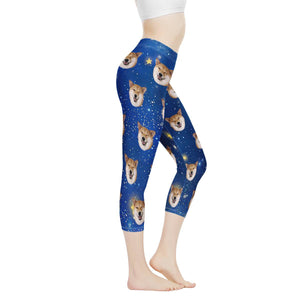 Custom Face &  Blue Sky Women's Capris - myphotowears