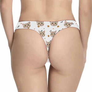 Custom Cat Photo Women's Underwear - myphotowears