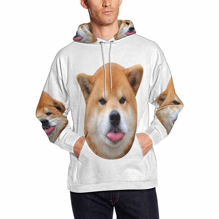 Custom Photo Men's All Over Print Hoodie Pullove