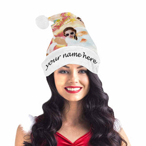 Custom Photo & Name  Christmas Hat