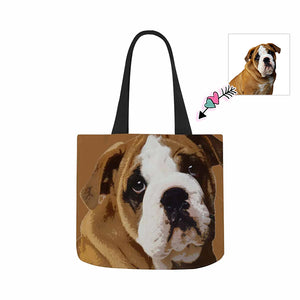 Custom Pet Photo Canvas Tote Bag - myphotowears