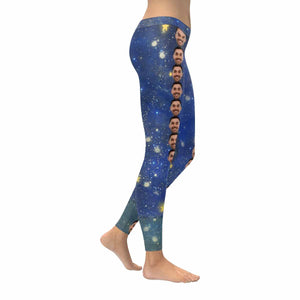Custom Face Star&Sky All-Over Low Rise Leggings