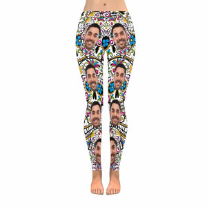 Custom Photo & Pattern Print Women's Legging (Made In USA) - myphotowears