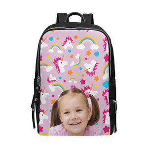 Custom Photo & Unicorn Print School Bag Travel Backpack 15-Inch Laptop - myphotowears