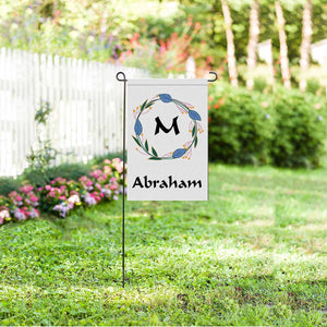Custom Name Or Single Initial Garden Flag - myphotowears