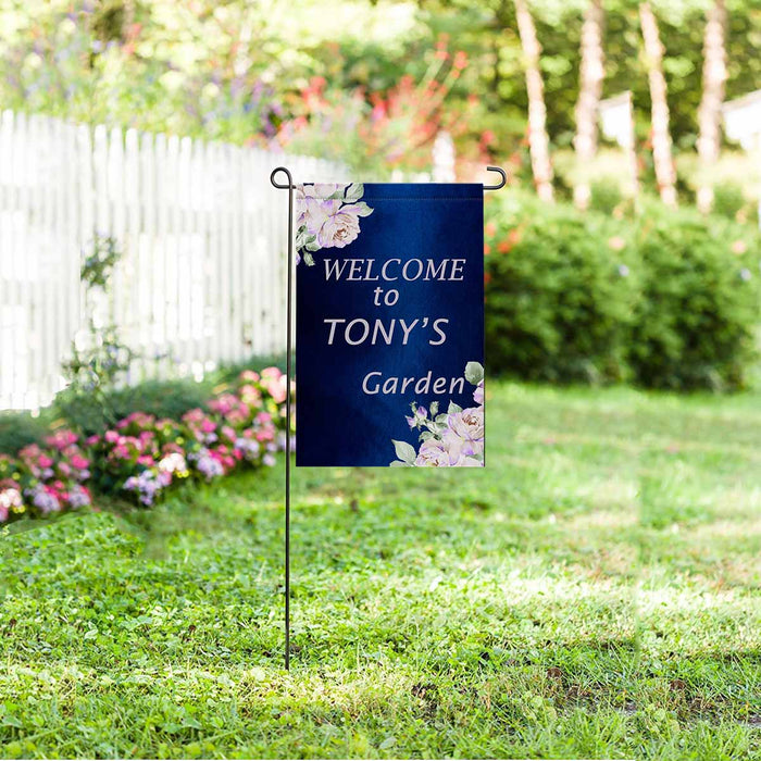 Custom Name & Flower Garden Flag