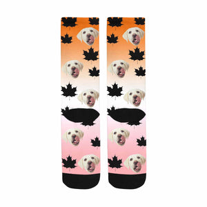 Custom Face & The Maple Leaves The Dog Sublimated Crew Socks