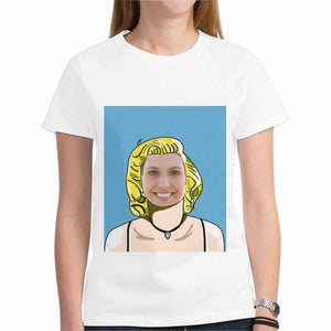 Custom Photo & Marilyn Monroe Hairstyle T-Shirt - Gildan (Made In USA) - myphotowears