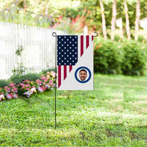 Custom Photo US Garden Flag - myphotowears