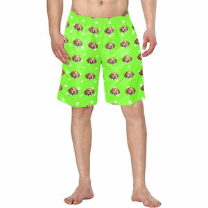 Custom Dog  Face Men's Swimwear Short Pants - myphotowears