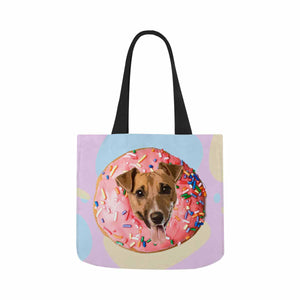 Custom Photo  & Donuts Canvas Tote Bag - myphotowears