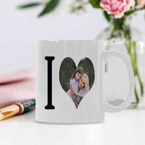 Custom 'I Love' With Photo Mug - myphotowears