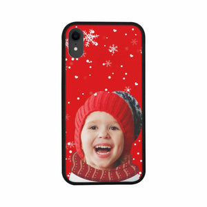 Custom Face Iphone XR Rubber Case-Christmas Snowflake - myphotowears