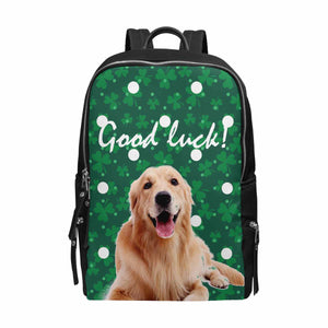 Custom Dog St. Patrick Day School Bag Travel Backpack 15-Inch Laptop - myphotowears