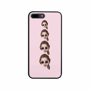 Custom Multiple Faces Iphone Phone Rubber Case (with Hard Plastic Back) - myphotowears