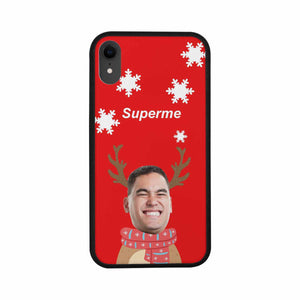 Custom Face Iphone Rubber Case (with Hard Plastic Back) - Superme - myphotowears
