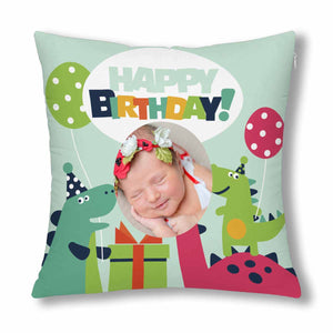 Custom With Photo Pillow Case - Happy Birthday - myphotowears
