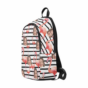 Custom Photo & Flamingo Print Backpack - myphotowears