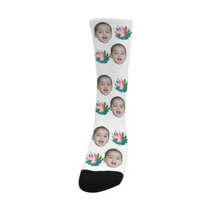Custom Kid's Face And Cartoon Patterns Socks|Personlized Photo Gifts - myphotowears