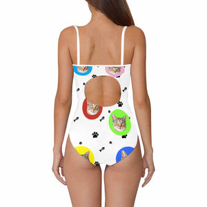 Custom Cat Photo One Piece Swimsuit - myphotowears
