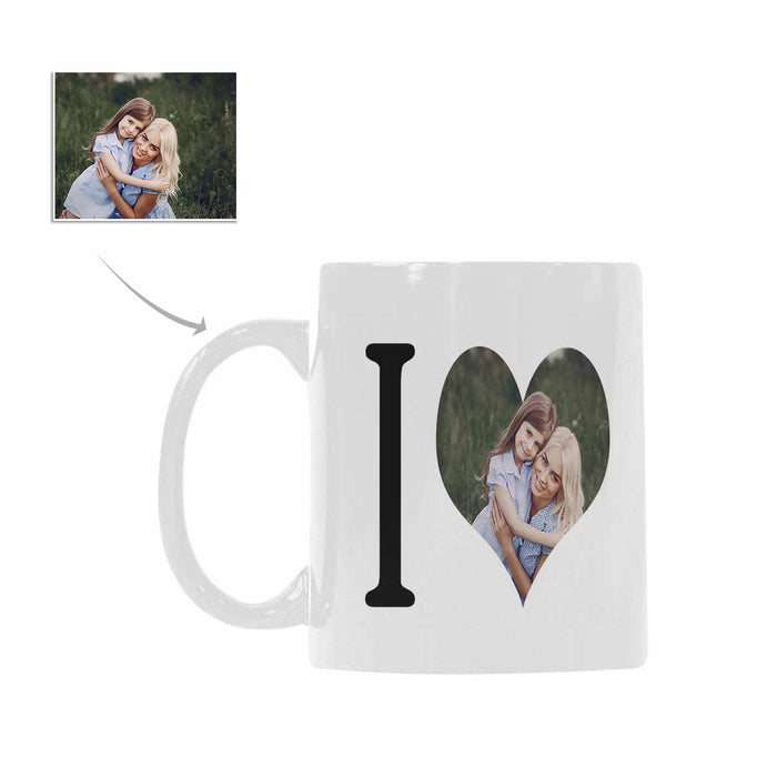 Custom 'I Love' With Photo Mug