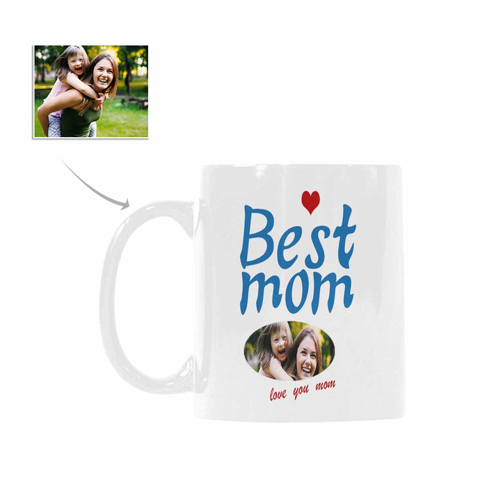 Custom Best Mom Pattern With Photo Mugs Gift