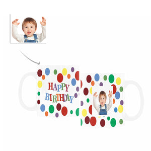 Custom Happy Birthday Patterns With Photo Mugs For Children - myphotowears