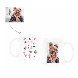 Custom Photo With I Love You Dad Pattern Coffee Mugs - myphotowears