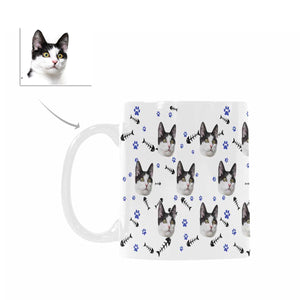 Custom Cat Face Photo Coffee Mugs - myphotowears
