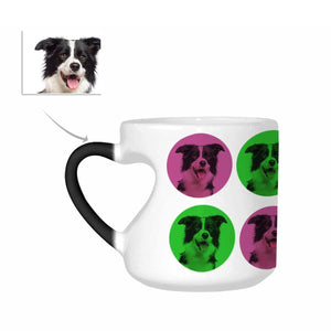 Custom Dog Photo Heart-Shaped Morphing Coffee Mugs - myphotowears