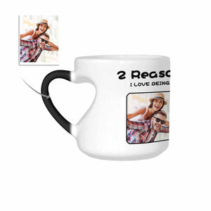 Custom Photo Heart-Shaped Morphing Coffee Mugs - myphotowears