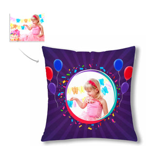 Custom Kid's Photo And Balloon Patterns Pillow Case - myphotowears