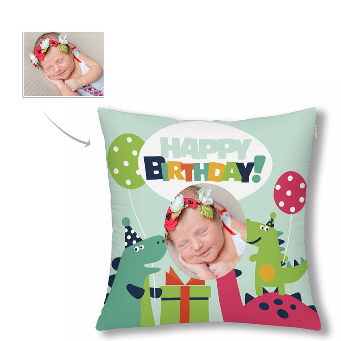 Custom With Photo Pillow Case - Happy Birthday
