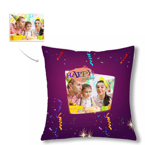 Custom Photo Pillow Case - Family & Happy Birthday - myphotowears
