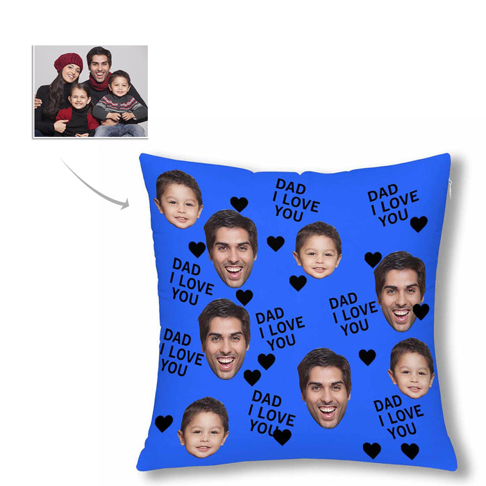 Custom Photo Pillow Case Men's Face&'I Love You Dad'