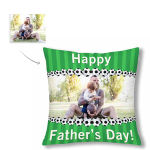 Custom Photo Pillow Case  - 'Happy Father's Day' - myphotowears