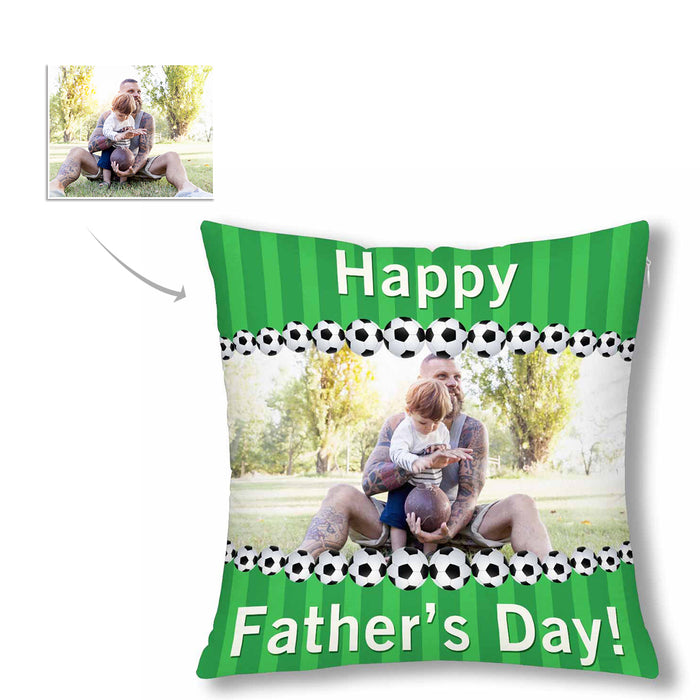 Custom Photo Pillow Case  - 'Happy Father's Day'