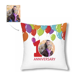 Custom Photo Pillow Case - '10 Years Wedding Anniversary' - myphotowears