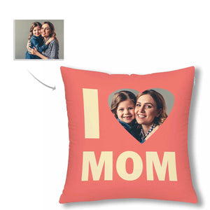Custom Photo Pillow Case - 'I Love Mom' - myphotowears