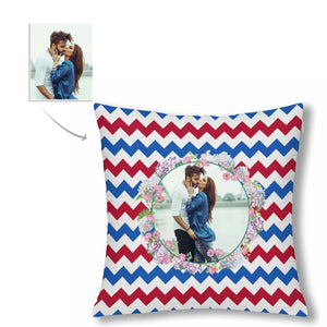 Custom Stripe Style With Photo Pillow Case - myphotowears