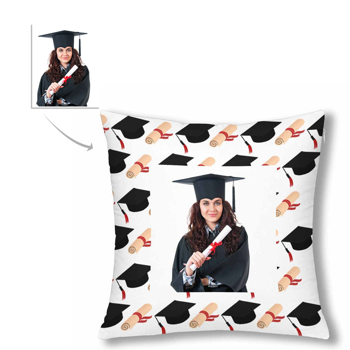 Custom Graduation Photo Pillow Case