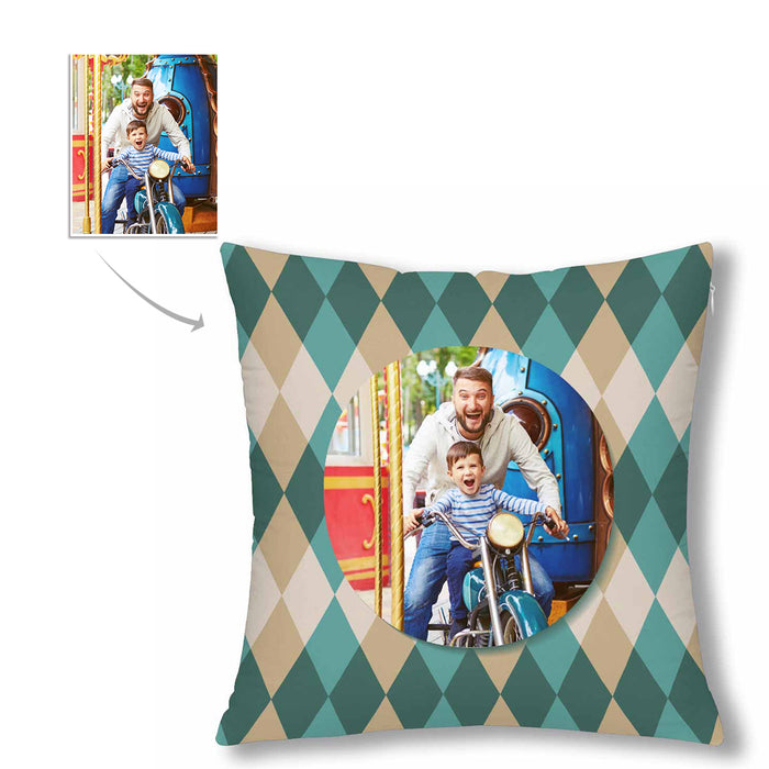 Custom Grid Style With Photo Pillow Case