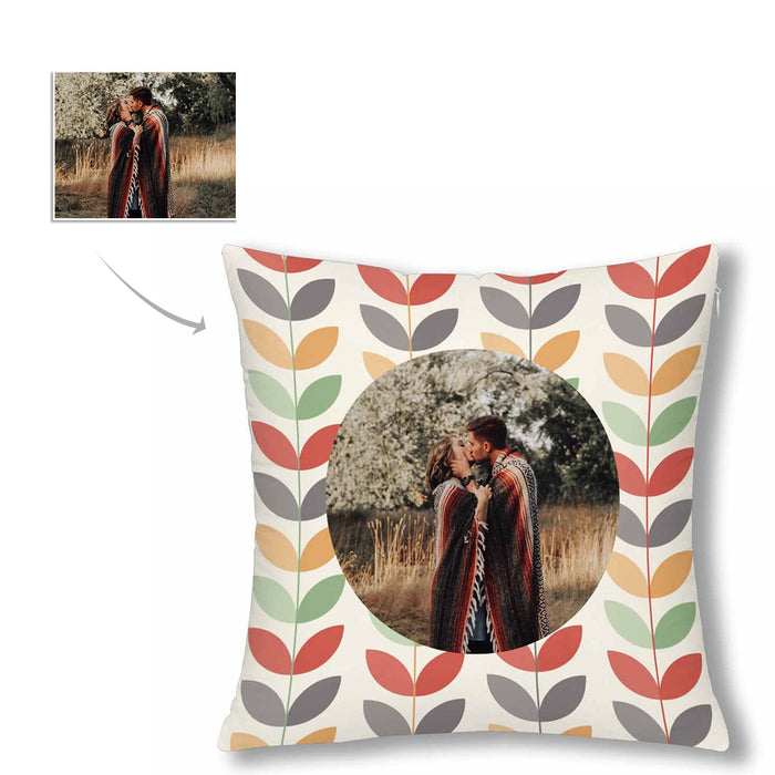 Custom Wicker Style With Photo Pillow Case
