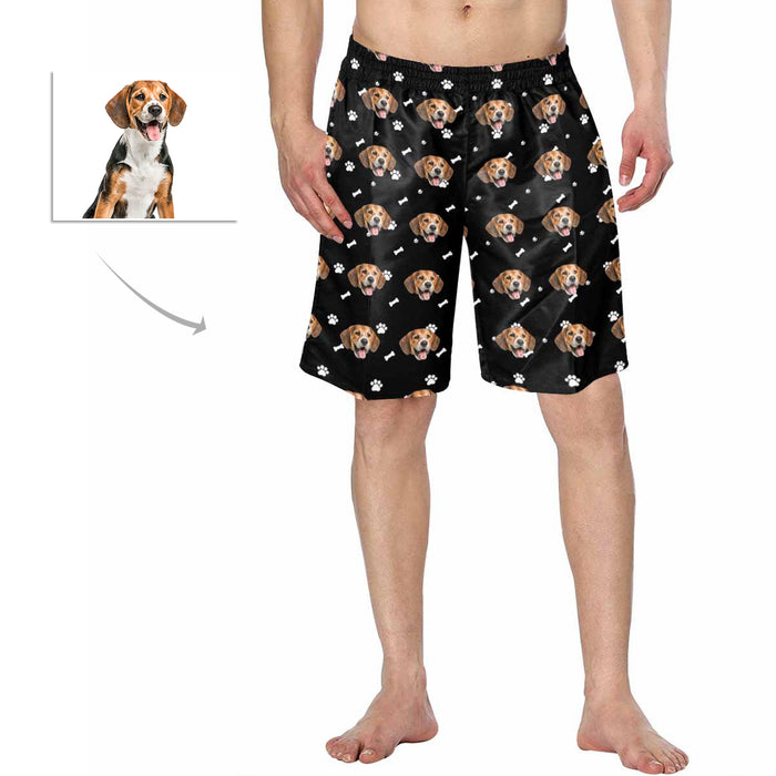 Custom Dog  Face Men's Swimwear Short Pants