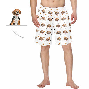 Custom Dog Face Men's Swimwear|Personalized Photo Short Pants - myphotowears