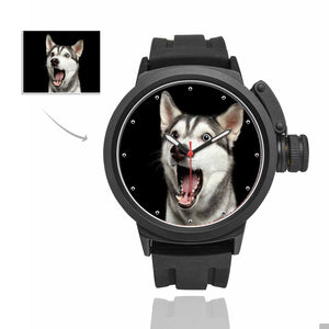 Custom Dog's Photo Men's Sport Watch - myphotowears